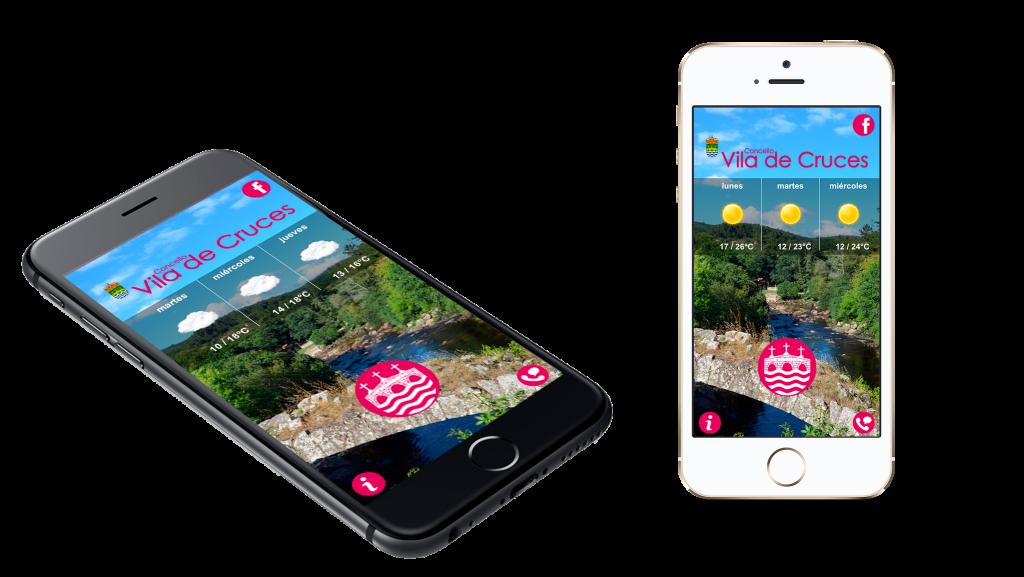 """Presentación app """"Concello de Vila de Cruces"""" para iOS y Android"""