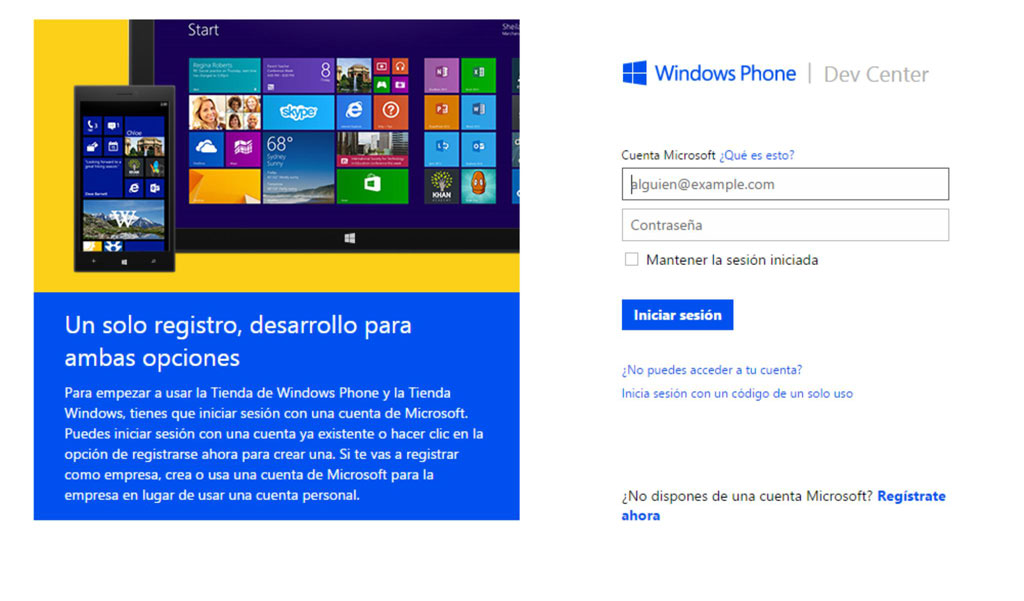 Pantalla Principal Windows Phone