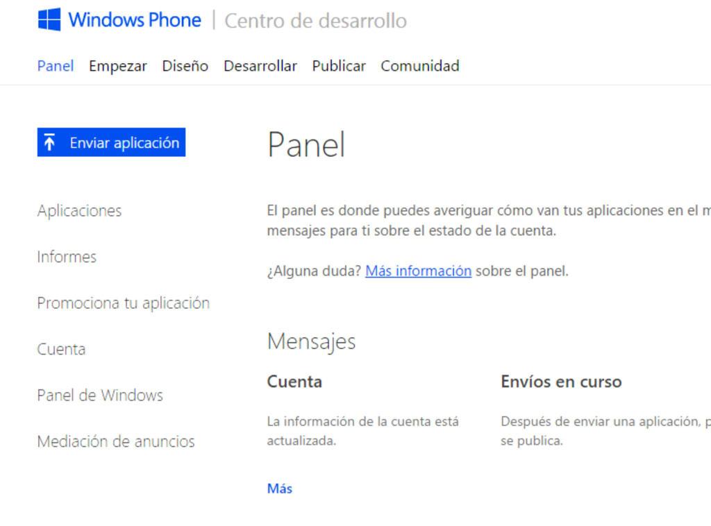 Windows Phone Centro de desarrollo