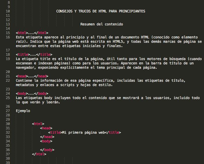 Trucos de HTML para programadores y SEOs principiantes