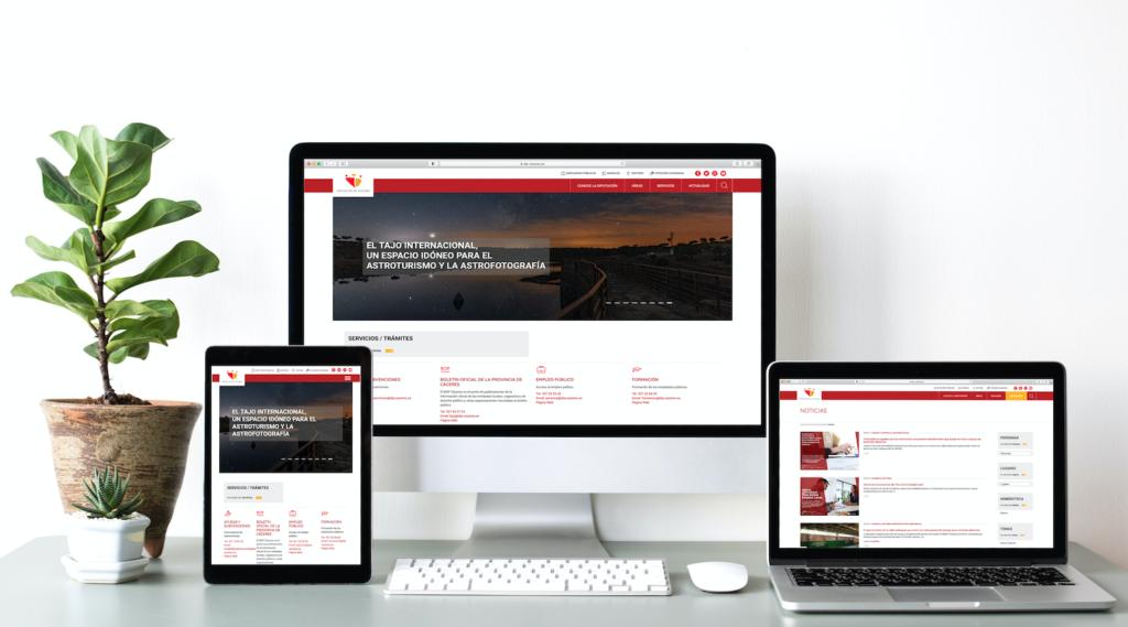 La Diputación de Cáceres estrena nueva web con el sello de evelb
