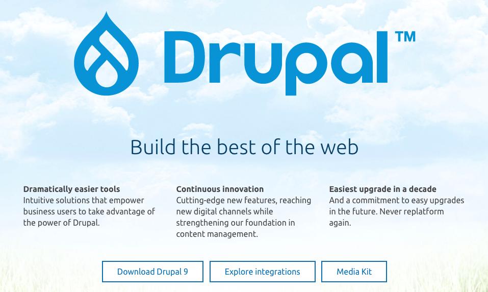 drupal pagina web